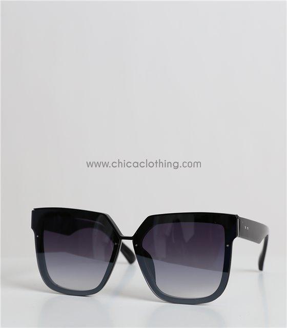 Γυαλιά ηλίου μάσκα με μαύρο φακό και στρας