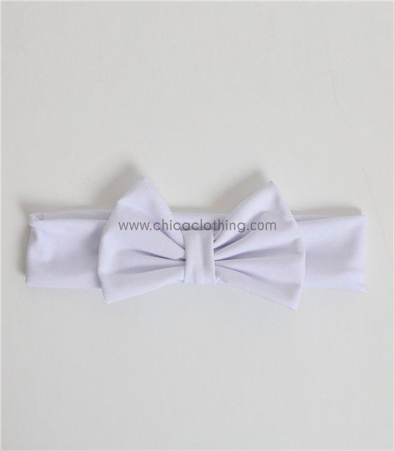 Παιδική κορδέλα με φιόγκο απλή (Λευκό)