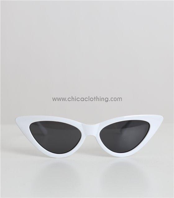 Παιδικά γυαλιά ηλίου cat-eye (Λευκό)