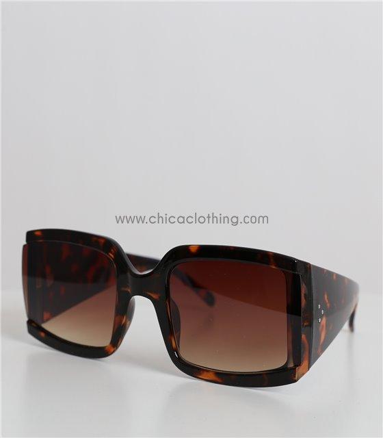 Γυαλιά ηλίου μάσκα ταρταρούγα με καφέ φακό