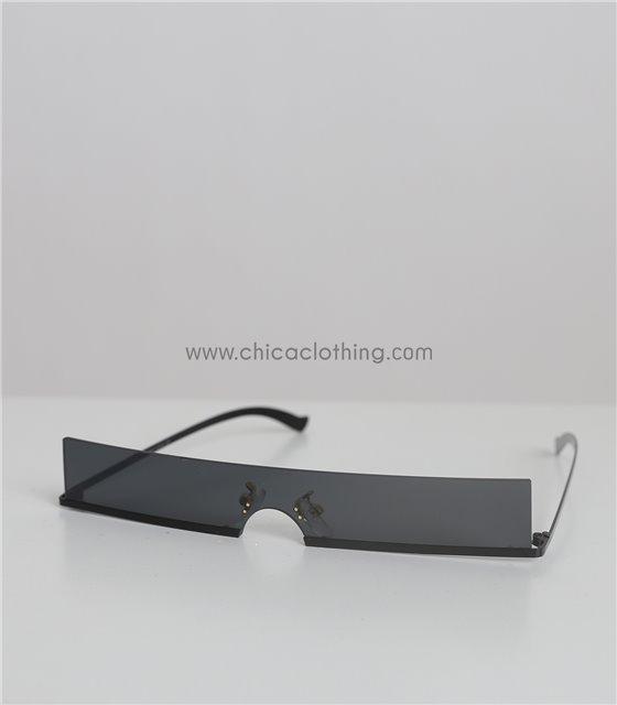 Γυαλιά ηλίου με μαύρο φακό και μαύρο σκελετό (Μαύρο)