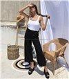 Ζιπ κιλότ ψηλόμεση (Μαύρη)