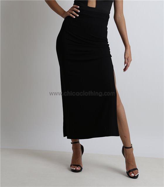 Μάξι φούστα ψηλόμεση (Μαύρη)