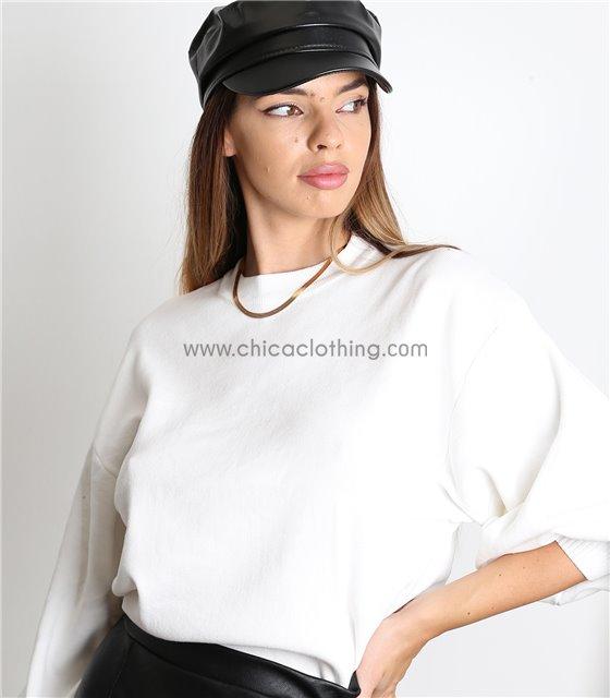 Καπέλο δερματίνη (Μαύρο)