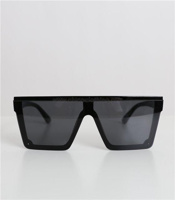 Γυαλιά ηλίου μάσκα με μαύρο φακό και μαύρο σκελετό