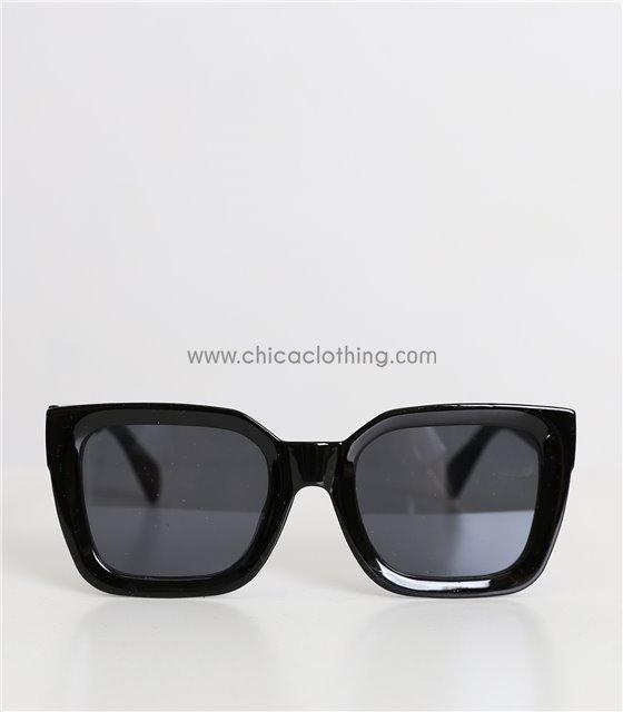 Γυαλιά ηλίου με μαύρο φακό (Μαύρο)
