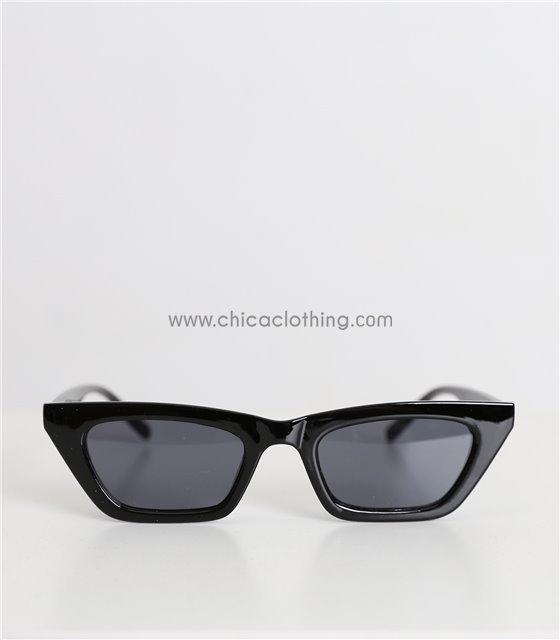 Γυαλιά ηλίου με μυτερές άκρες (Μαύρο)