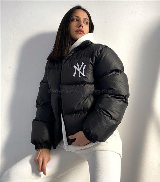 """Μπουφάν bomber """"New York"""" (Μαύρο)"""