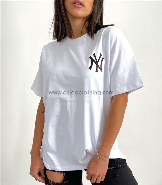 Κοντομάνικη μπλούζα ''NY'' (Λευκό)