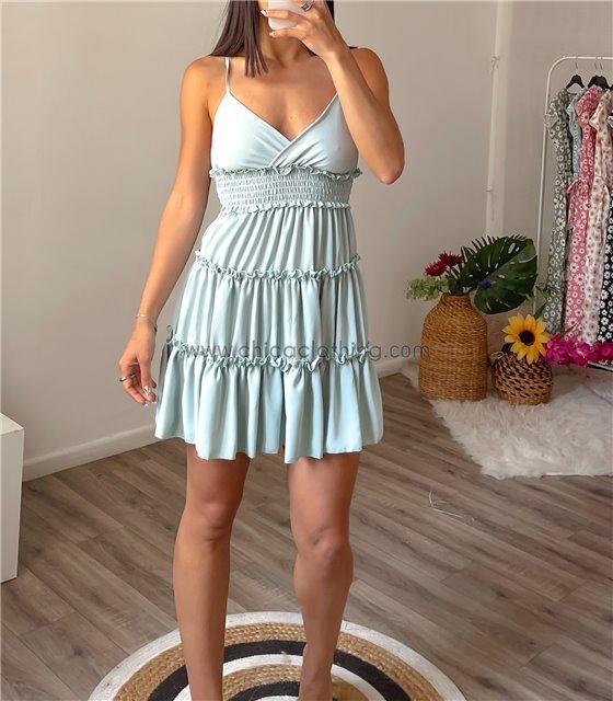 Φόρεμα μίνι τιράντα με ρυθμιζόμενες τιράντες (Βεραμάν)