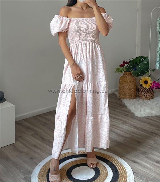 Φόρεμα μάξι alexa (Ροζ)