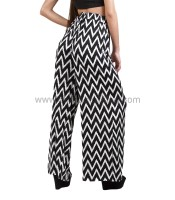 Black & white pants high-waisted