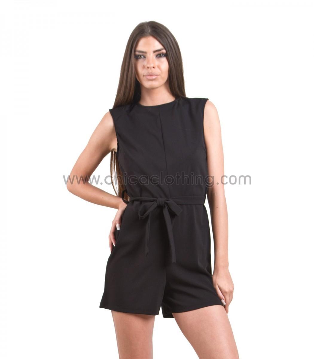 d550debd724 Ολόσωμη φόρμα σορτς μαύρη