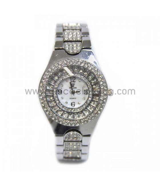Watch faux bijoux silver