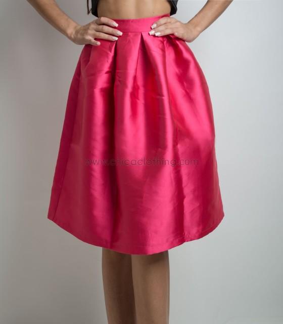 Skirt closs fuschia with zipper