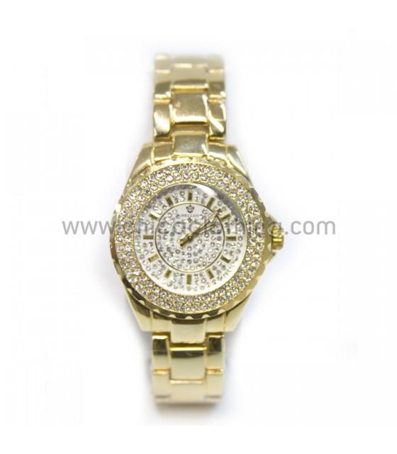 Watch faux bijoux with rhinestone