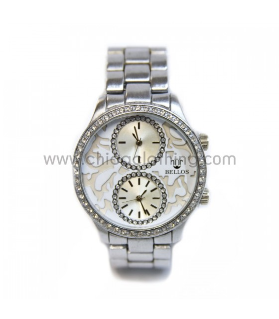 Watch faux bijoux with rhinestone
