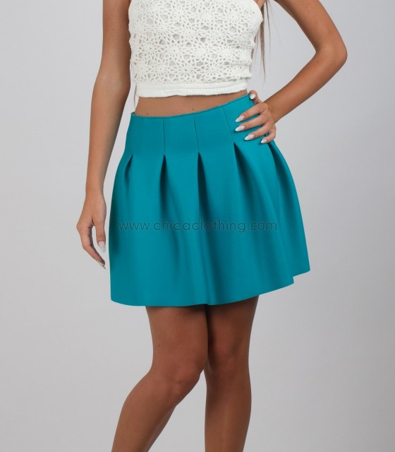 Light green klos skirt neoprene