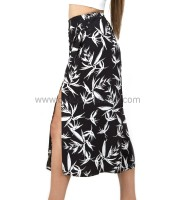 Zip cullote with cut outs black 'n white