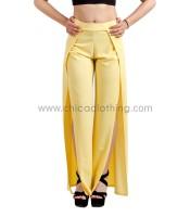 Παντελόνι με άνοιγμα κίτρινο