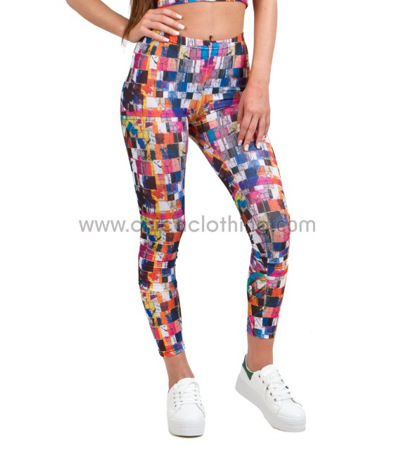 Leggings pop art print