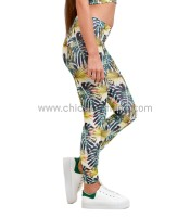 Leggings tropical print