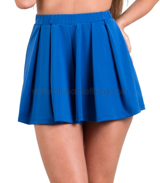 blue high waisted sorts