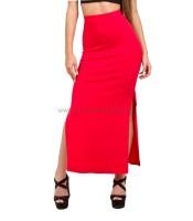 Μάξι φούστα ψηλόμεση κόκκινη