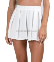 Ηigh waisted sorts white