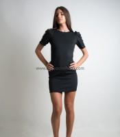 Φόρεμα μαύρο εξώπλατο με φιόγκο στην πλάτη