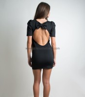 Backless dress with bow back