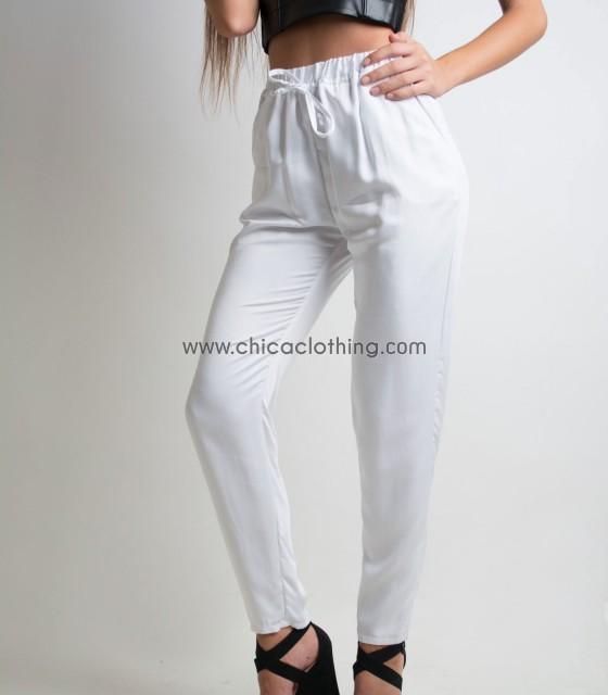 Παντελόνα λευκή
