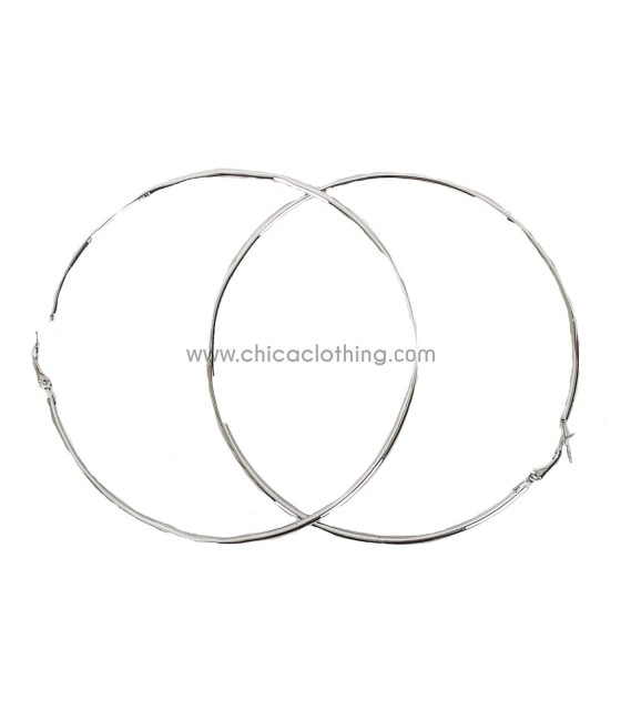 Silver hoop eariings