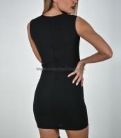 Εφαρμοστό φόρεμα με λωρίδα διαφάνεια