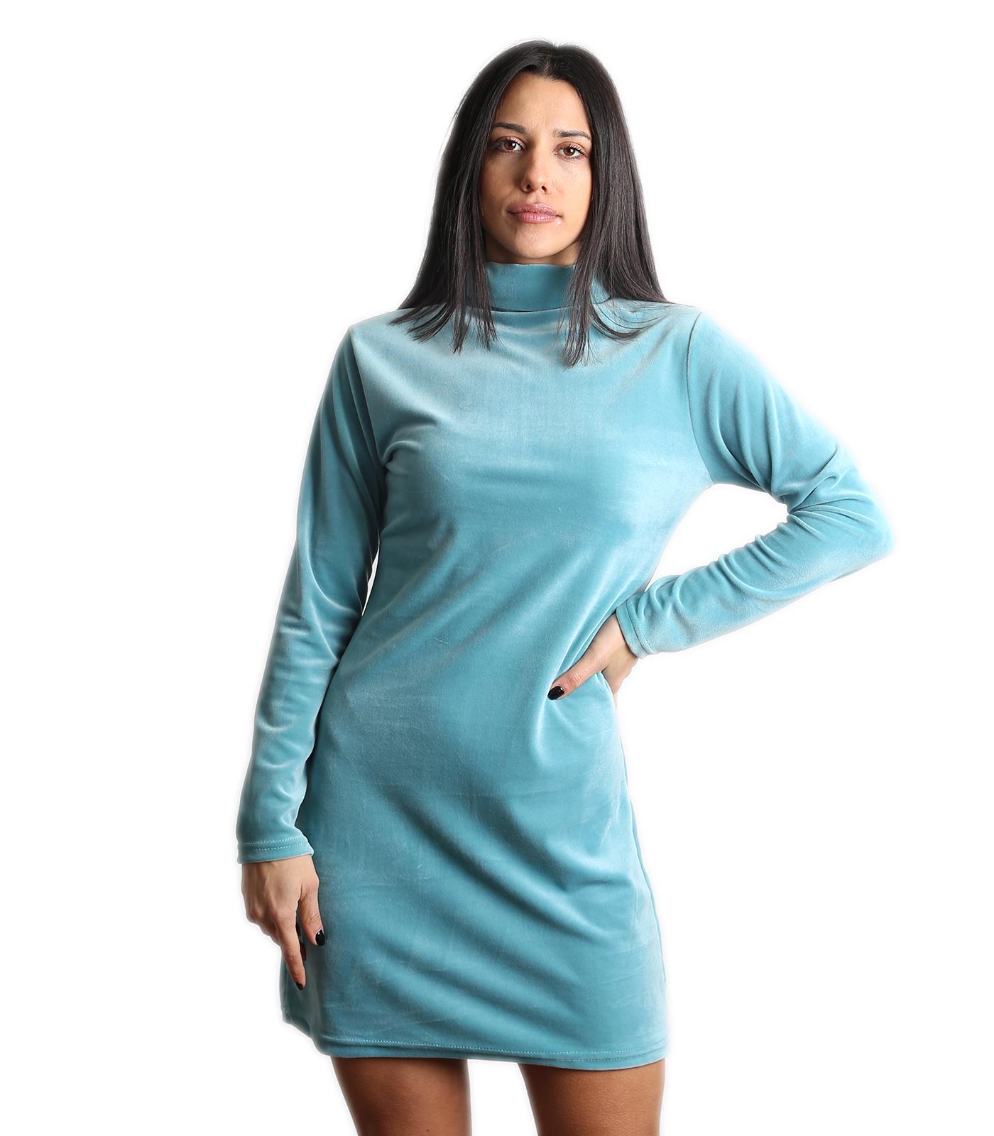 Βελούδινο μίνι φόρεμα ζιβάγκο (Βεραμάν)
