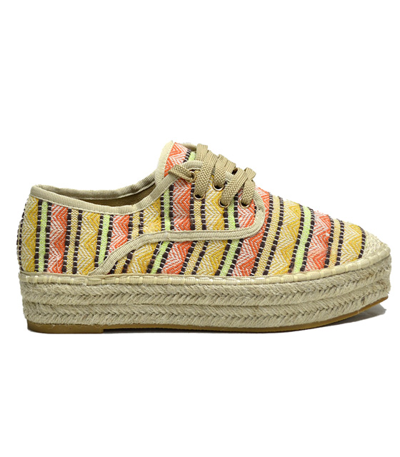 Espadrilles with motifs