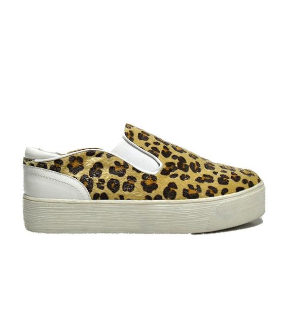 Sneaker leopard ponyskin