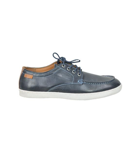 Μen faux leather boat shoes brown