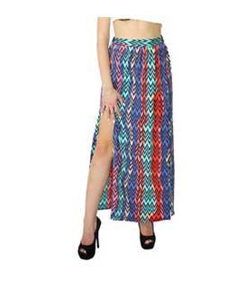 Φούστα μάξι εμπριμέ ρούχα   bottoms   φούστες