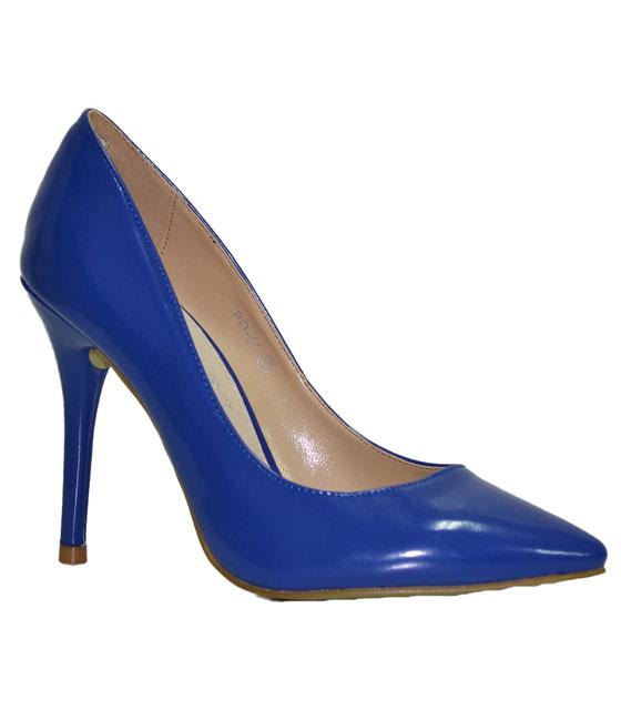 Μπλε γόβες λουστρίν