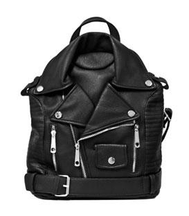 Τσάντα πλάτης μαύρη με φερμουάρ τσάντες