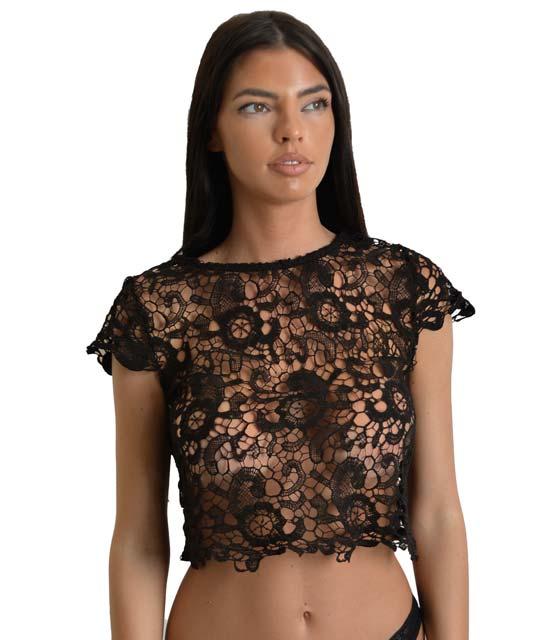 Τοπ δανδέλα μαύρο ρούχα   μπλούζες   top   τοπάκια   μπουστάκια