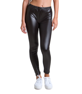 Metallic pop leggings black