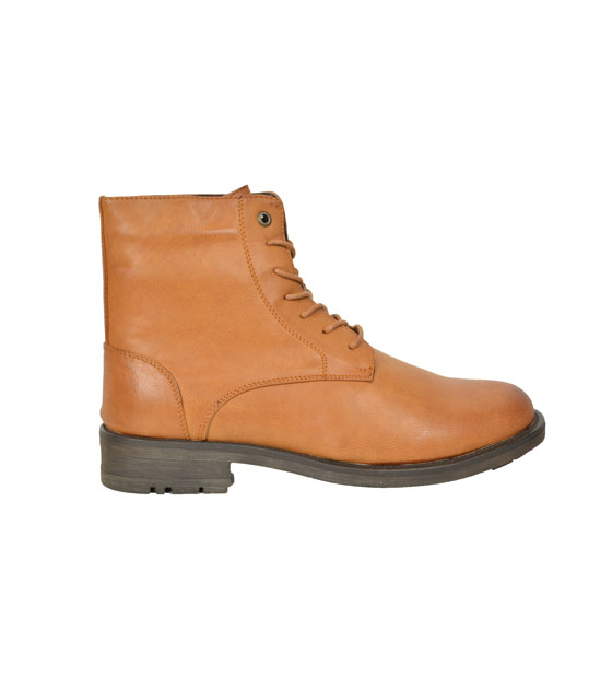 Lace Up Boots (Tan)