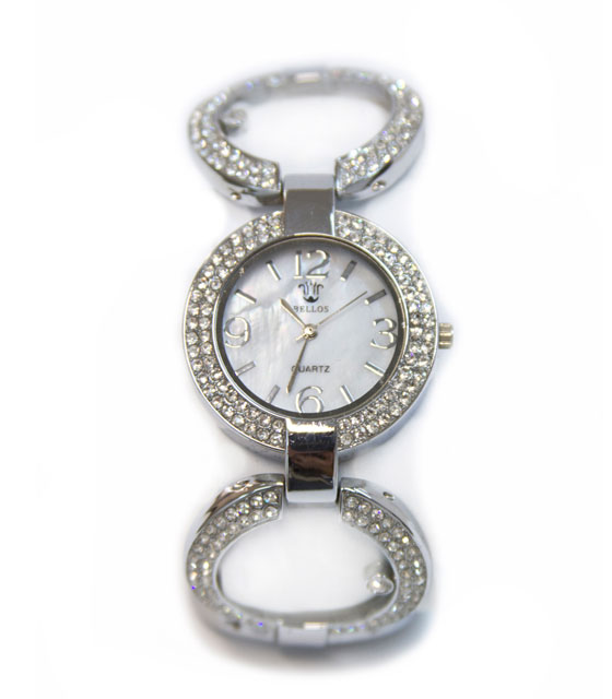 Ρολόι faux bijoux ασημι με κρικους (1780) αξεσουάρ   ρολόγια