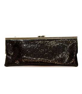 Bag envelope glitter black