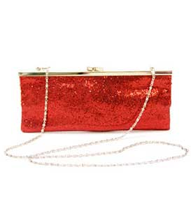 Bag envelope glitter red