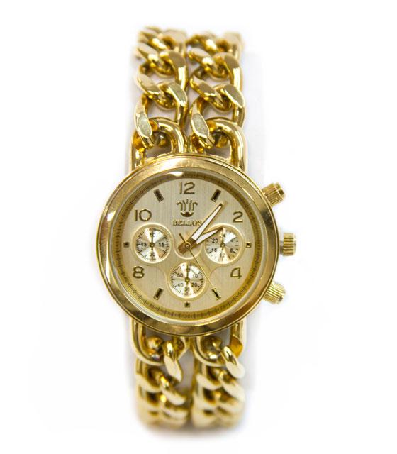 Ρολόι faux bijoux χρυσο με αλυσιδες (1812) αξεσουάρ   ρολόγια
