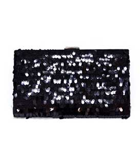 Envelope bag black sequin