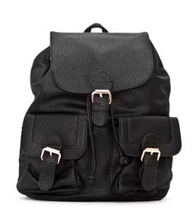 Backpack with pockets black